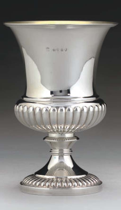 A GEORGE IV SILVER GOBLET,