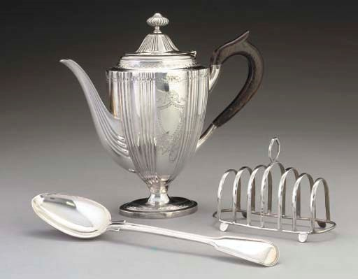 A VICTORIAN SILVER VASE-SHAPED