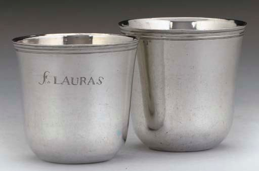 TWO 18TH CENTURY FRENCH SILVER