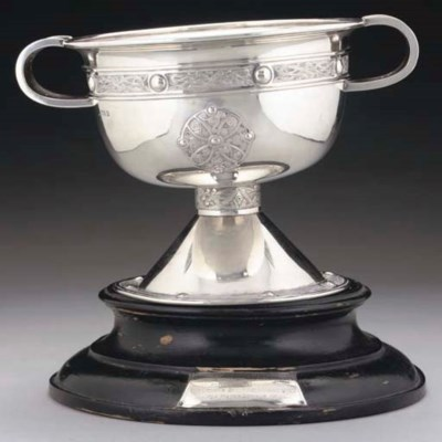 AN IRISH SILVER ROSE BOWL IN T