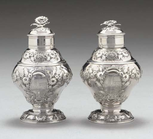A PAIR OF GEORGE II ROCOCO SIL