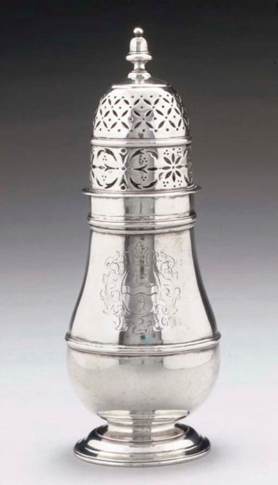 A QUEEN ANNE SILVER SUGAR CAST