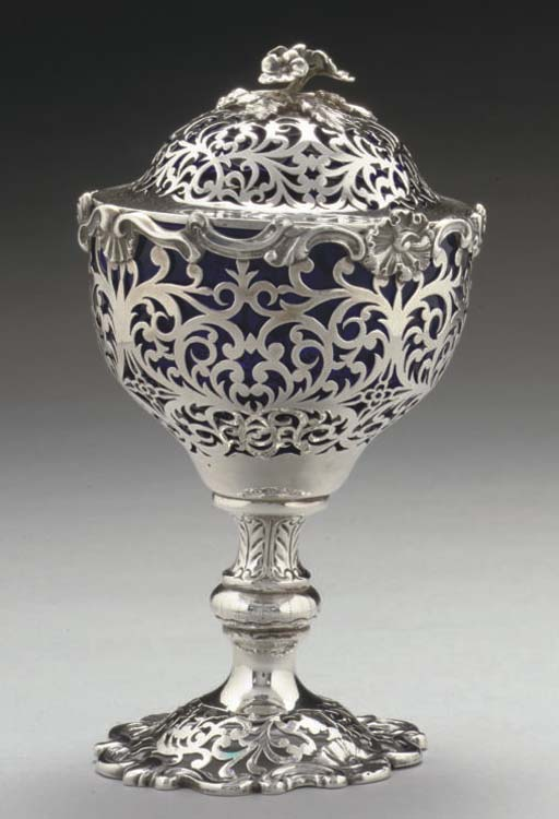 AN EARLY VICTORIAN SILVER COVE