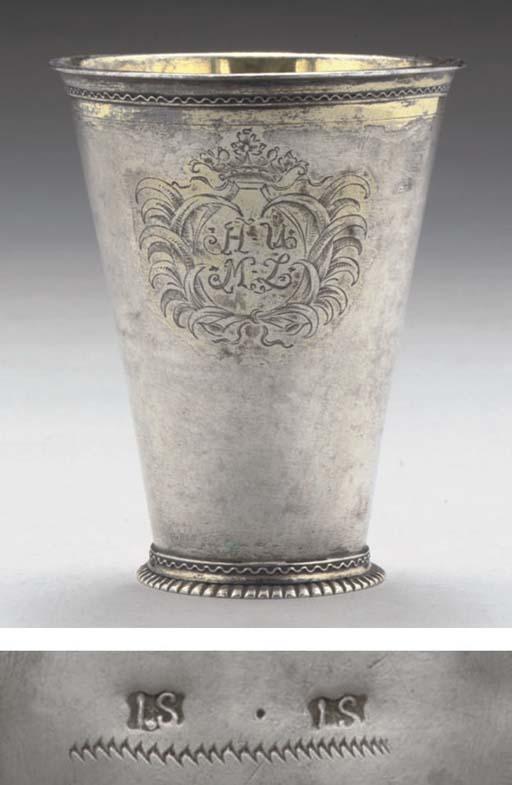 A MID-18TH CENTURY PARCEL-GILT