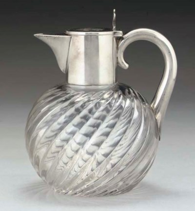 A RUSSIAN SILVER-MOUNTED GLASS