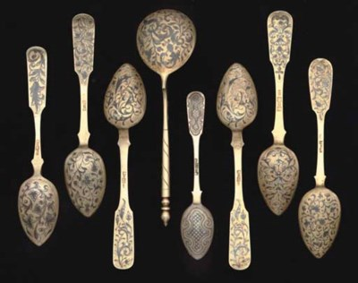 A GROUP OF EIGHT 19TH CENTURY