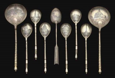 A GROUP OF NINE 19TH CENTURY R