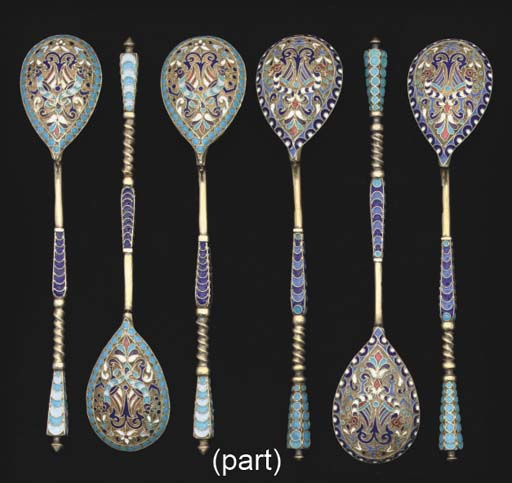 TWO SETS OF SIX LATE 19TH CENT