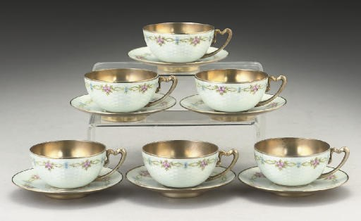 A SET OF SIX CONTINENTAL SILVE