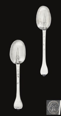 A PAIR OF CHARLES II SILVER TR