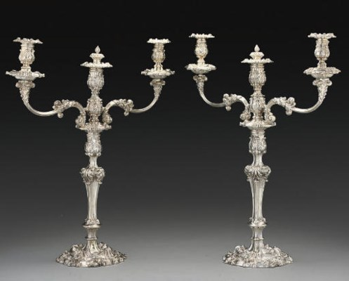 A PAIR OF GEORGE III SILVER 3-