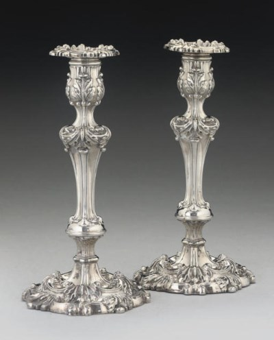 A PAIR OF GEORGE IV SILVER CAN