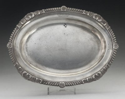 A WILLIAM IV OVAL SILVER MEAT