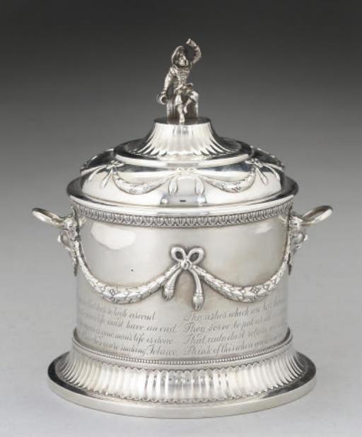 A VICTORIAN SILVER TOBACCO JAR