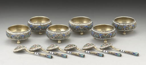 A SET OF SIX SMALL LATE 19TH C