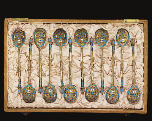 A SET OF TWELVE LATE 19TH CENT