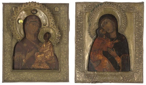 TWO ICONS OF THE MOTHER OF GOD