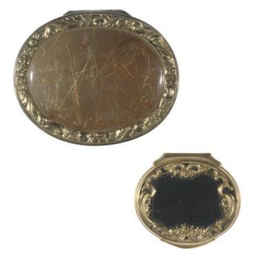 A silver-gilt mounted rutilate