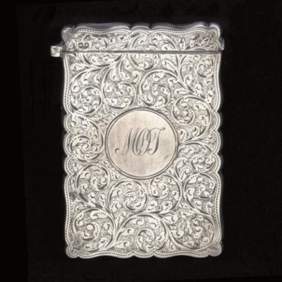 Two Victorian silver card case