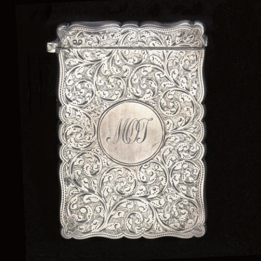 Two Victorian silver card cases