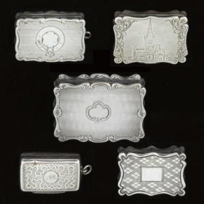A Victorian silver vinaigrette