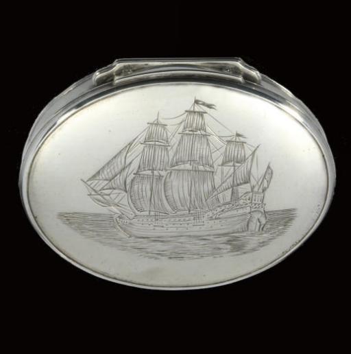 A George I silver snuff box