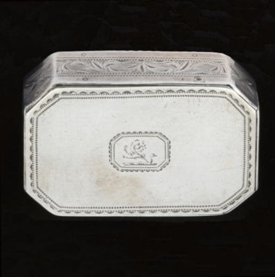 A George III Irish silver tric