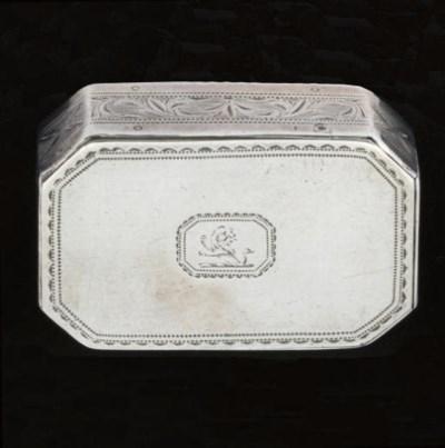 A George III Irish silver tric