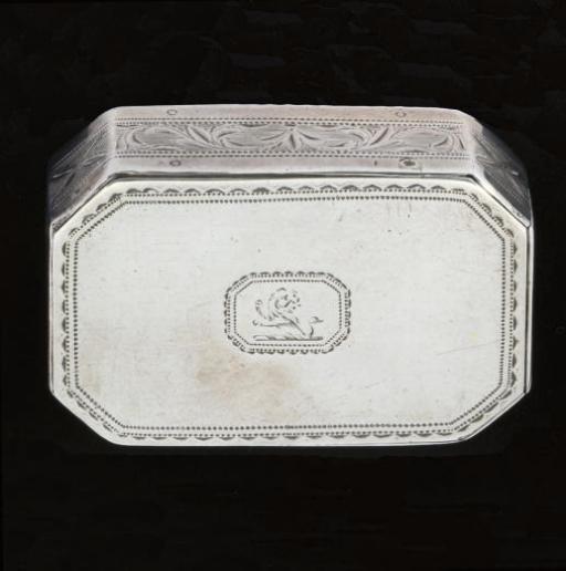 A George III Irish silver trick opening snuff box