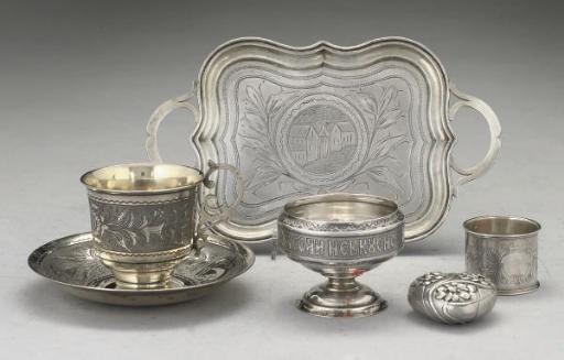A quantity of Russian silver