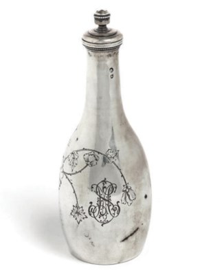 A Russian silver scent flask