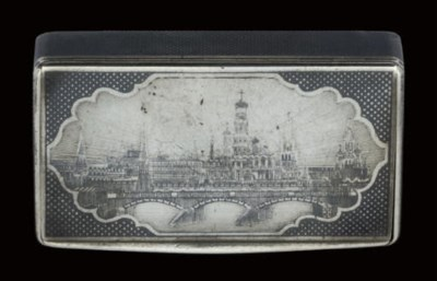 A Russian silver and niello sn