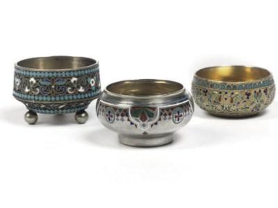 Five various Russian silver an