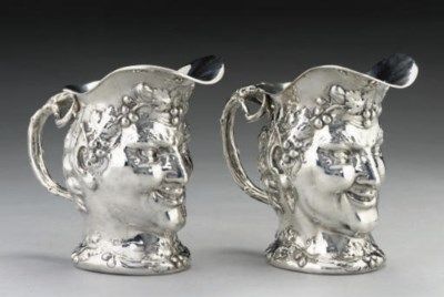 A MATCHED PAIR OF GERMAN SILVE