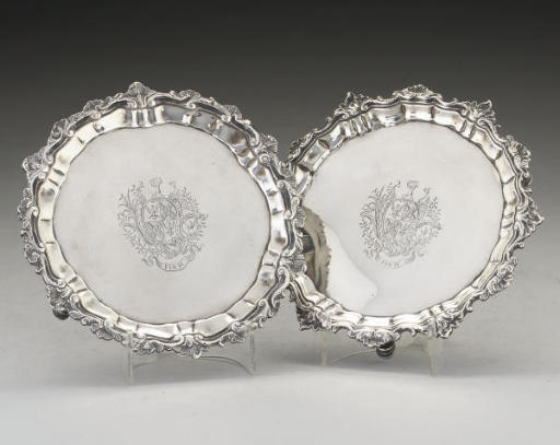 A VICTORIAN IRISH SILVER WAITE