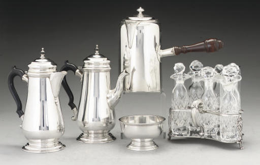 A GEORGE III SILVER COFFEE BIGGIN,