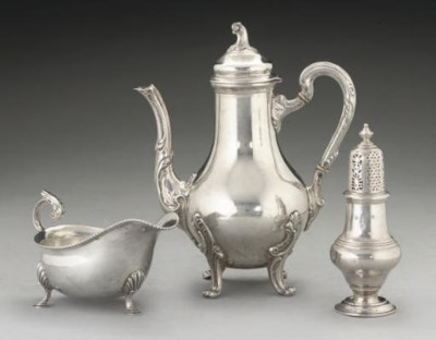 A COLLECTION OF SILVER AND MET