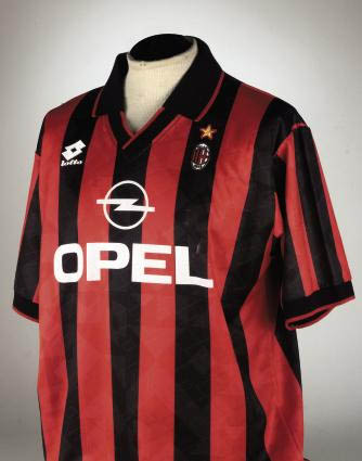 A RED AND BLACK A.C. MILAN SHO