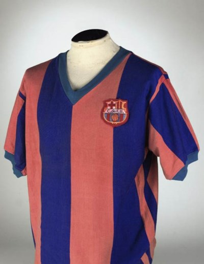 A RED AND BLUE BARCELONA SHORT