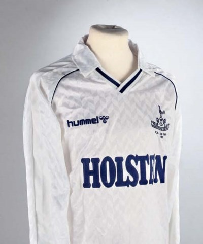 A WHITE AND BLUE TOTTENHAM HOT