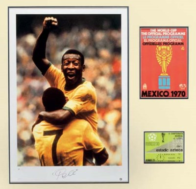 A SIGNED PELE 1970 WORLD CUP F