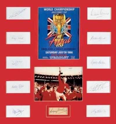 A FRAMED 1966 WORLD CUP WINNER