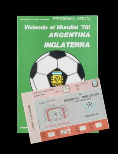 AN ARGENTINA V. ENGLAND 1978 W