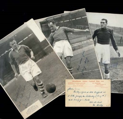 A MANCHESTER UNITED POSTCARD
