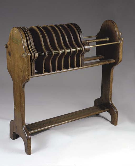 A SLAZENGER RACKET PRESS, C.19