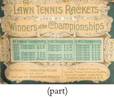 A SLAZENGER TENNIS BALL BOX, C