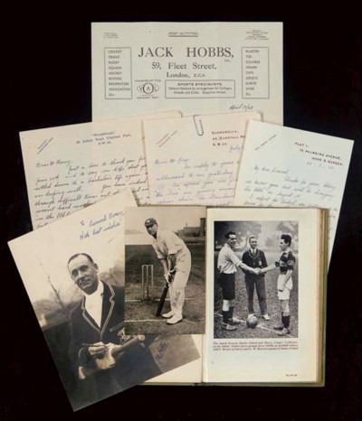 A COLLECTION OF JACK HOBBS LET