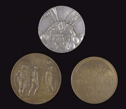 A SILVER 1924 PARIS OLYMPIC ME