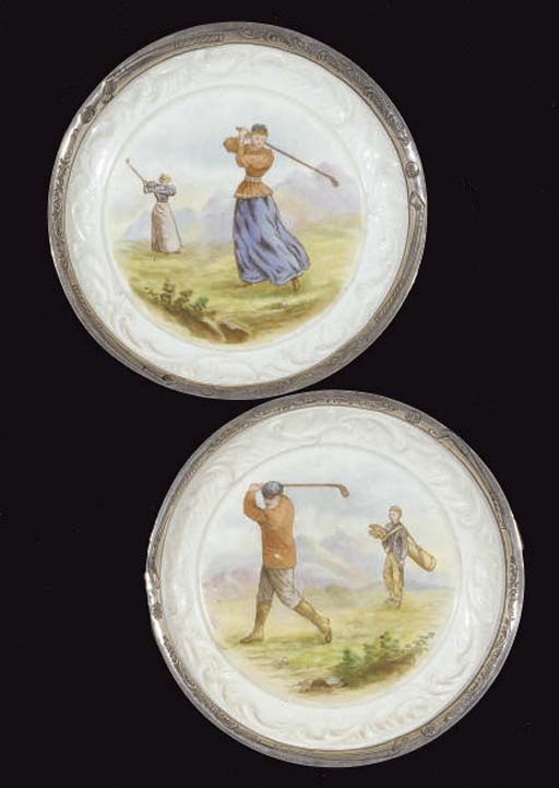 A PAIR OF SILVER-MOUNTED TAYLO