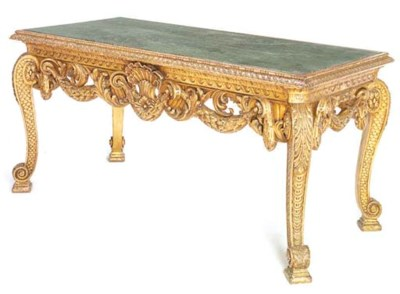 A CARVED GILTWOOD AND GESSO CE